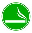 Cigarette button vector image vector image