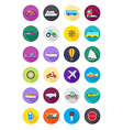 color round transport icons set vector image
