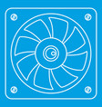 computer fan cooler icon outline style vector image