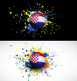 croatia flag with soccer ball dash on colorful vector image vector image