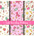 cute seamless patterns prints for kids products vector image vector image