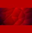dark red scarlet low poly trendy backdrop vector image