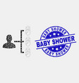 dot newborn parent links icon and grunge vector image vector image