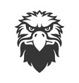 eagle face icon bird logo on white background vector image vector image