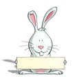 Easter Bunny Label vector image