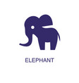 elephant element in flat simple style on white vector image vector image