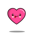 emoticon cute love heart cartoon character icon vector image