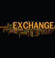 exchange companies text background word cloud vector image vector image