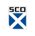 flag scotland icon vector image