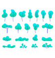 flat trees set vector image vector image