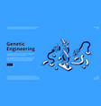Genetic engineering landing page dna projection