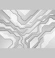 grey abstract modern technology background vector image vector image