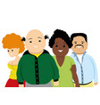 group of obese people vector image vector image