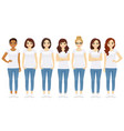 group women vector image