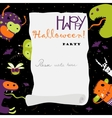 Halloween banner with monsters vector image vector image