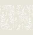 hand drawn herbal sketch seamless pattern vector image