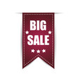 hanging labels big sale with shadow on a white vector image vector image