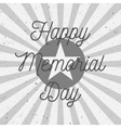 Happy Memorial Day Text on USA Flag vector image vector image