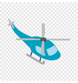 helicopter isometric icon vector image vector image