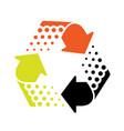 icon of recycling symbol - cycle arrow vector image vector image