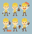 Industrial Construction Worker character set carto vector image vector image