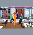 informal business meeting in the office vector image vector image