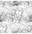 japanese deamon fox pattern vector image