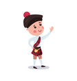 little boy wearing traditional costume of scotland vector image vector image