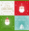 merry christmas greeting cards set vector image vector image