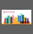 mississauga city canada architecture silhouette vector image vector image