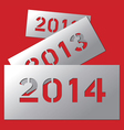 New year metallic plate 2014 vector image vector image