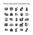 online education and elearning solid icon set vector image