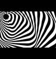 optical illusion white black pattern abstract vector image
