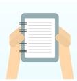Paper sheet hands vector image