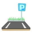 Parking icon cartoon style vector image vector image