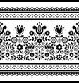 polish folk art seamless black pattern