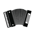 Retro accordion icon vector image vector image