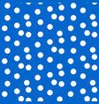 scattered dots blue polka background seamless vector image vector image