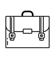 school suitcase cartoon vector image