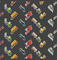 seamless pattern with agricultural machinery vector image vector image