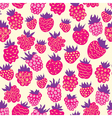 Seamless pattern with raspberries