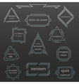 set geometric vintage labels logos icons vector image