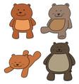 set of bear vector image vector image