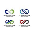 set of infinity logo vector image