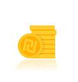 shekel israeli money icon vector image vector image