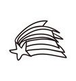 shooting star doodle vector image vector image