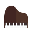 simple grand piano top view graphic vector image