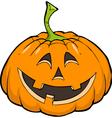 smiling pumpkin vector image vector image
