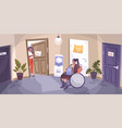 social justice disabled flat composition vector image