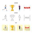 sport and winner logo vector image